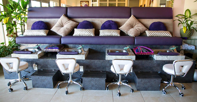 Pedicure Stations at Beauty Spa Maui